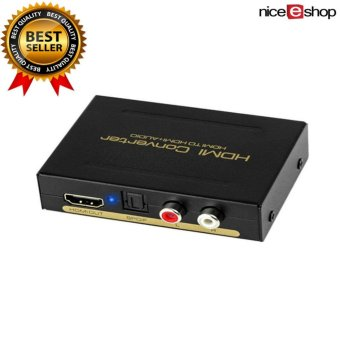HDMI Audio Extractor Converter Splitter HDMI To HDMI + SPDIF RCA Stereo L/R Audio Output Digital To Analog Audio (HDMI Input,HDMI+ Audio Output) - intl Price Philippines