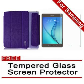 iCase Slim Book Cover for Samsung Galaxy Tab A (2016) 7.0 (SM-T280 T285) (Purple) with FREE Tempered Glass Screen Protector (Clear) Price Philippines