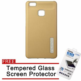 Harga Incipio Rubber Back Case for Huawei P9 Lite (Gold) with Free LUXO Tempered Glass Screen Protector