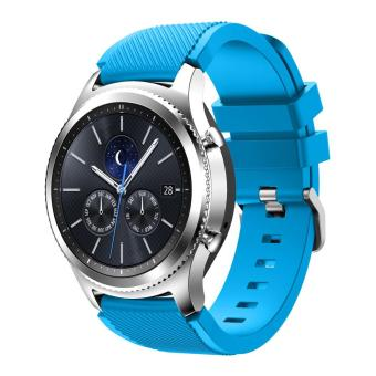 Venter Soft Silicone Replacement Sport Strap for Samsung Gear S3 Frontier / S3 Classic / Moto 360 2nd Gen 46mm Smart Watch, (NOT FIT S2 & S2 Classic & Fit2) - intl Price Philippines