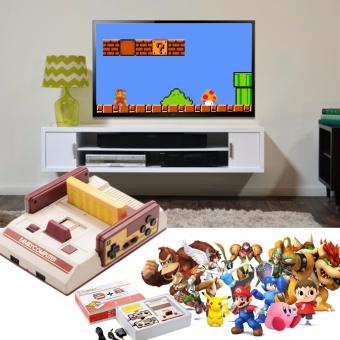 Harga FC Compact Classic Family Computer with Built in 100 Games and 132 Games External Game Cartridge