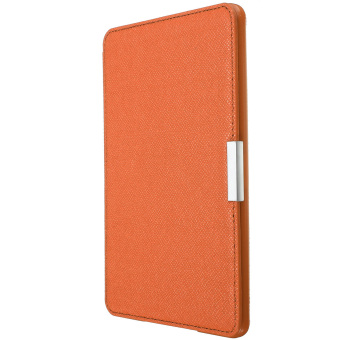 Harga Slim PU Leather Protection Smart Cover for Amazon Kindle (Orange)