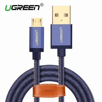 Harga UGREEN Micro USB 2.0 Cable Denim Braided Sync and Fast Charging Data Cable for Android Mobile Phone - 2M - intl