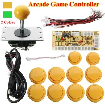 Zero Delay Arcade Game Controller USB Joystick Kit Set for MAME Raspberry Pi (Yellow) - intl Price Philippines
