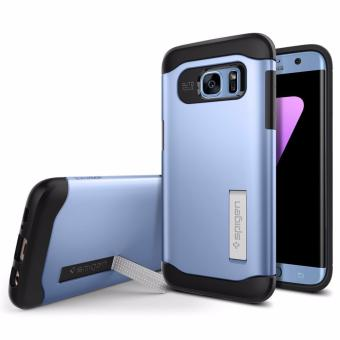 Harga Spigen Slim Armor Galaxy S7 Edge Case with Kickstand and Air Cushion Technology and Hybrid Drop Protection for Galaxy S7 Edge - Blue Coral