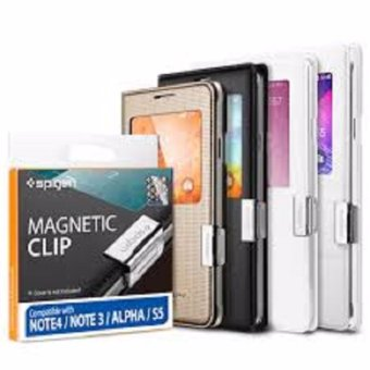 Harga SPIGEN Magnetic Clip For Samsung S View Cover / Flip Waalet - silver