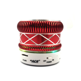 Ace M-01 Shining Mini Music Speaker with Radio/USB (Red) Price Philippines