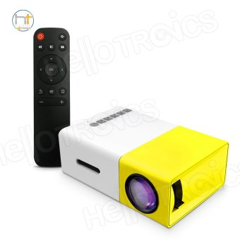 Harga Portable YG300 Mini Led Projector Multimedia Home Theater (White/Yellow)
