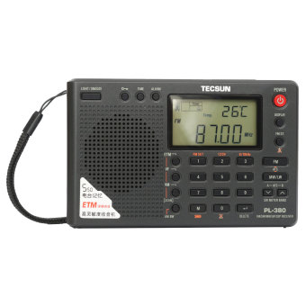Harga TECSUN PL-380 DSP PLL FM MW SW LW Digital Stereo Radio World Band Receiver New Black - intl