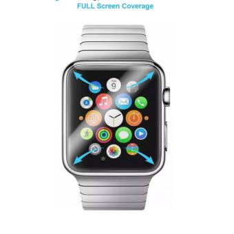 Apple Watch 38mm Screen Protector [Full Screen Coverage][Case Friendly], Curvologys S+Shield Apple Watch 38mm (Series 1/2) Anti-Fingerprint Scratch-proof Ultra HD Film -(2-Pack) - intl Price Philippines