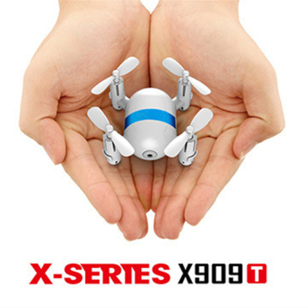 Harga X909T Four axis Mini Aerial Vehicle FPV image transmission Model remote control aircraft (white) - intl
