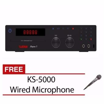 Harga Platinum Reyna 3 Karaoke Player in built 17,000 songs with FREE KS-5000 Wired Microphone
