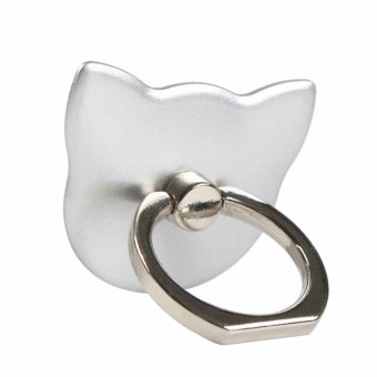 Luxury Cat-shaped mobile phone bracket Fashion Universal Mobile Phone Ring Stent Cell Phone Ring Holder Finger Grip with Free Hook for Car Using Phone Stand - intl Price Philippines