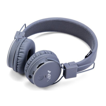 NIA X2 Superb Sound Collapsible 108dB Bluetooth Headset with FM Radio and TF/AUX Slot (Gray) Price Philippines