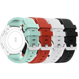 4 pcs Multi Colors Soft Silicone Sport Replacement Strap for Samsung Gear S3 Frontier/S3 Classic Wristband - intl Price Philippines