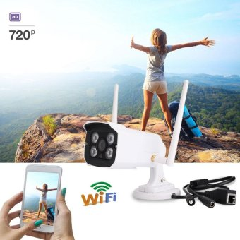 Outdoor Waterproof WiFi HD 720P Security IP Camera with Night Vision EU Plug - intl Price Philippines