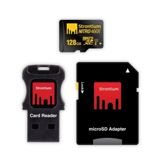 Harga Strontium Nitro 128GB 466x Micro SD Card with Adapter and Card Reader