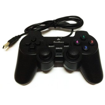 Harga LC USB Wired Gaming Controller with Analog Sticks for PC / Laptop (Black)