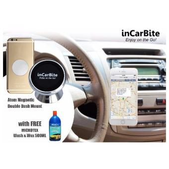 Harga InCarBite DDS-MM Magnetic Mobile Dash Mount w/ Free Microtex MA-SW500 Wash & Wax 500ml