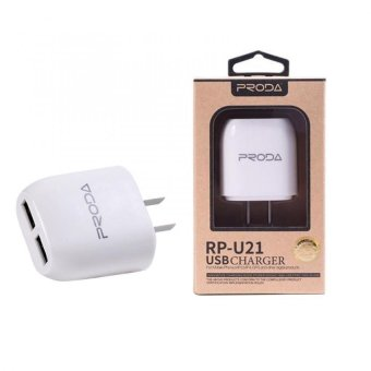 Remax Proda RP-U21 Two Port USB Adapter (White) Price Philippines
