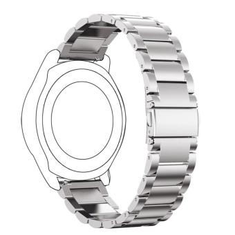 Classic Stainless Steel Watch Band Bracelet for Samsung Gear S3 Frontier - Silver - intl Price Philippines