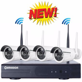 Harga Camvision 4CH 1.3MP Wireless CCTV Kit