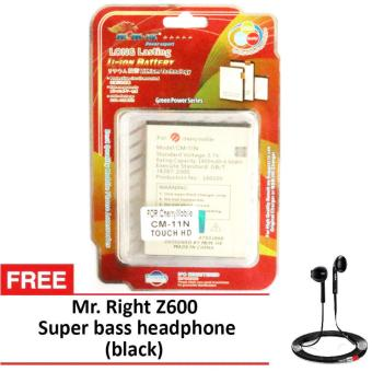 Harga MSM HK Battery for Cherry Mobile CM-11N TOUCH HD WITH FREE Z600 super bass earphone black