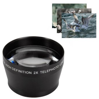 Harga 52mm 2X High Definition Telephoto Lens for Canon DSLR Camera - intl