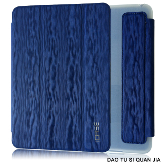 ICASE Auto Sleep / Wake Leather/TPU Flip Cover Case for Apple iPad Mini 1 / 2 / 3 (Blue) Price Philippines