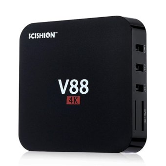 Harga SCISHION V88 TV Box Quad Core 8GB 4K WiFi/HDMI Streaming Media Player
