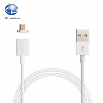 Harga LC Excellence TC-008D 1M 3A Magnetic Micro USB Plug Charger Adapter Charge Cable For Android (White)