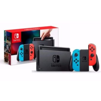 Harga Nintendo Switch console with Neon Blue and Neon Red Joy-Con