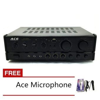 Ace AV-302USB Professional Power Amplifier with Free Ace-504 microphone Price Philippines