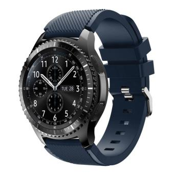 Trendy Sports Silicone Watch Strap Replacement for Samsung Gear S3 Frontier / S3 Classic - Black Blue - intl Price Philippines