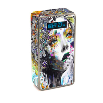 Harga Oddstickers Gilr Pattern 1 Vape Skin Cover for Snow Wolf 200W Box Mod