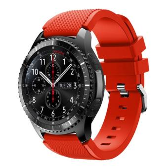 Flexible Sports Silicone Watch Strap for Samsung Gear S3 Frontier / S3 Classic - Red - intl Price Philippines