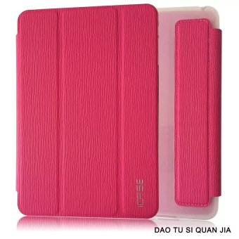 ICASE Auto Sleep / Wake Leather/TPU Flip Cover Case for Samsung Galaxy Tab 3 V / T113 (Pink) Price Philippines