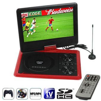 SUNSKY NS-958 9.5 inch TFT LCD Screen Digital Multimedia Portable DVD with Card Reader & USB Port, Support TV (PAL / NTSC / SECAM) & Game Function, 270 Degree Rotation, Support SD / MS / MMC Card (Red) Price Philippines