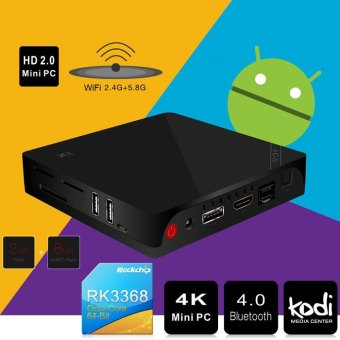 Beelink i68 TV Box UHD 4K Mini PC H.265 XBMC KODI 1000M Ethernet Android 5.1 Octa Core RK3368 2.4G 5.8G WiFi Bluetooth HDMI 2.0 Price Philippines