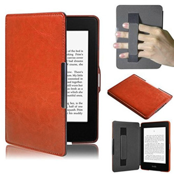Harga PU Leather Folio Case Cover For Amazon Kindle Paperwhite (Brown)