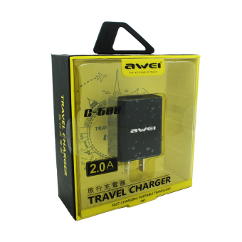 Awei C-600 Quick Travel Charger (Black) Price Philippines