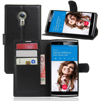 Wallet Flip Leather Case For Alcatel Flash 2/Alcatel OneTouch Flash 2 (Black) - intl Price Philippines
