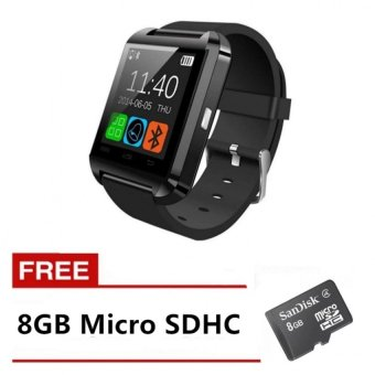 Harga Cai-99 Bluetooth Touchscreen Smart Watch (Black) with FREE 8GB Memory Card