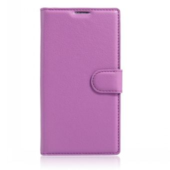 Wallet Flip Leather Case Cover For Alcatel Flash 2/Alcatel OneTouch Flash 2 (Purple) - intl Price Philippines