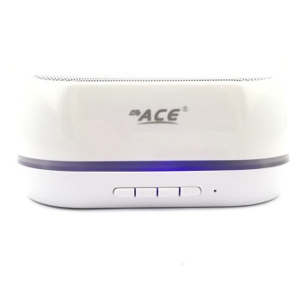 Ace BT-06 Shining Bluetooth Speaker with USB/Radio (White) Price Philippines