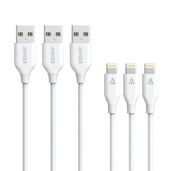 Harga Anker PowerLine MFi Lightning to USB Charging Cables (3 PCS / 3ft) - intl