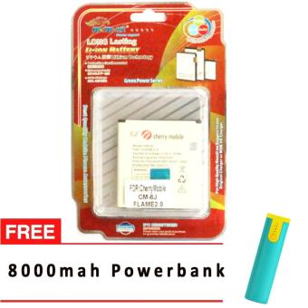 MSM HK Battery for Cherry Mobile CM-8J FLAME 2 WITH FREE 8,000 MAH POWERBANK Price Philippines
