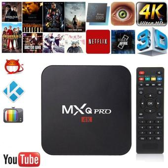 Harga MOON STORE MXQ pro Amlogic S905 Quad-core Smart TV Box Android 5.1 SDRAM 1GB Flash 8GB HD 1080P 4k*2k Streaming Media Player EURO - intl