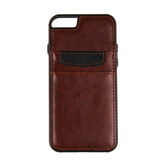 Harga VAKIND Leather Soft TPU Case for iPhone 6/6s (Brown)