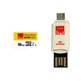 Harga Strontium Nitro Class 10 16GB Micro SD Card with OTG Reader